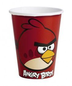 Kubek papierowy z Angry Birds.