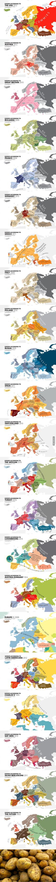 Silvio Berlusconi has the best view of Europe<<I wonder if all of these are accurate as to how they view it, becaue that's exactly how the US sees europe