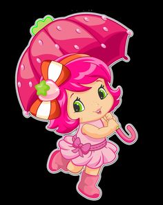 Strawberry Shortcake as a cute and pretty baby with her umbrella Strawberry Shortcake Pictures, Strawberry Shortcake Characters, Kawaii Drawings, Cute Drawings, Baby Krishna, Cute Coloring Pages, Christmas Frames, Decoupage Vintage, Hello Kitty Wallpaper