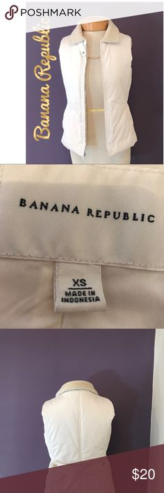 Winter white vest Soft comfortable and in very good condition easy wash and care Banana Republic Jackets & Coats Vests