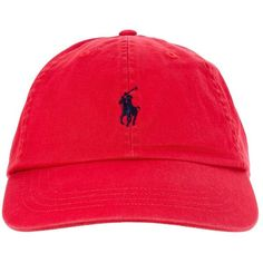Polo Ralph Lauren Caps rød ❤ liked on Polyvore