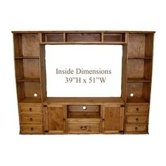 4 Door Corner TV Stand Flat Screen Console Real Wood Western Rustic