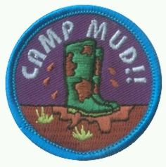 Girl guide guides guiding scouts scouting camp blanket camp mud fun badge
