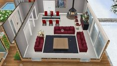 Casas The Sims Freeplay, Sims Freeplay Houses, Sims Free Play, Sims House Design, House Template, Sims Ideas, Sims 4 Clothing, Sims 2, Home Furniture
