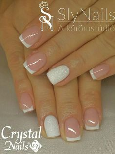 tips and dip nails / tips and dip nails . dip nails with tips . dip powder nails with tips . dip powder nails tips . diy dip powder nails at home with tips . dip powder nails manicures french tips . dip nails with tips coffin . diy dip powder nails tips French Manicure Gel Nails, Toe Nails, Nail Polish, Acrylic Nails, French Manicure With Glitter, French Manicure With Design, Summer French Nails, Nail French, Metallic Nails