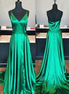 Green Prom Dress For Teens, Evening Gown, Graduation School Party Gown, Winter Formal Dress, - Designer dresses - kleid Prom Dresses For Teens, Pageant Dresses, Dance Dresses, Homecoming Dresses, Party Dresses, Vogue Dresses, Teen Dresses, Prom Outfits, Dressy Dresses