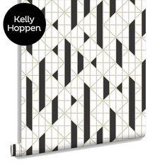 Linear Black & White Wallpaper