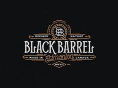 Black Barrel designed by Srdjan Vidakovic. Connect with them on Dribbble; the global community for designers and creative professionals. Brand Identity Design, Logo Design, Casino Logo, Vintage Monogram, Vintage Typography, Brand Board, Logos, Packaging Design, Barrel