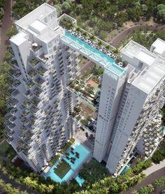 moshe safdie architects sky habitat singapore construction designboom