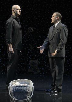 Daniel Stewart (Leontes) and Lawrence Redmond (Antigonus), The Winter's Tale, directed by Blake Robison, Folger Theatre, 2009 . Carol Pratt....