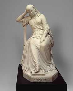 William Wetmore Story (American, Boston, Massachusetts 1819–1895 Vallombrosa). Cleopatra, 1858, carved 1869. The Metropolitan Museum of Art, New York. Gift of John Taylor Johnston, 1888 (88.5a–d)