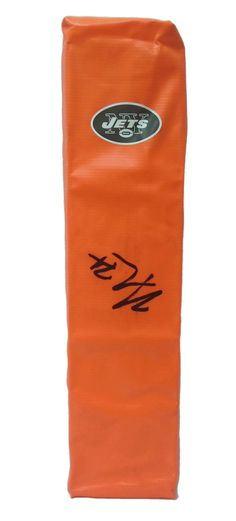 363628bb248 Nick Mangold Autographed New York Jets Full Size Football End Zone  Touchdown Pylon, Proof.
