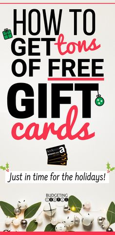 ways to get free holiday gift vouchers!