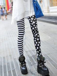 Fashion Punk Street Stlye US Flag Star Stripe Print Leggings   GonChas