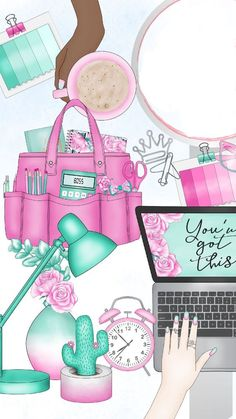 Cute Images, Cute Pictures, Arte Fashion, Girly Drawings, Summer Wallpaper, Aesthetic Iphone Wallpaper, Cellphone Wallpaper, Cute Illustration, Happy Planner
