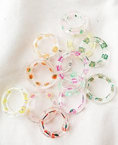 Resin Ring, Resin Jewelry, Handmade Jewelry, Stylish Jewelry, Cute Jewelry, Beautiful Notebooks, Biscuit, Accesorios Casual, Party Rings