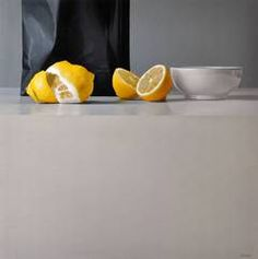 Lemons and Bowl   From a unique collection of paintings at https://www.1stdibs.com/art/paintings/