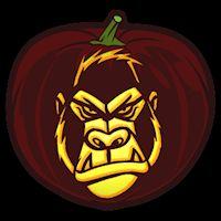 Gorilla - Pumpkin Stencil