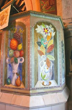 Pulpit painting, Berwick Church by Duncan Grant. Dora Carrington, Duncan Grant, Vanessa Bell, Virginia Woolf, Art Grants, Bloomsbury Group, Charleston Homes, Les Oeuvres, Designer