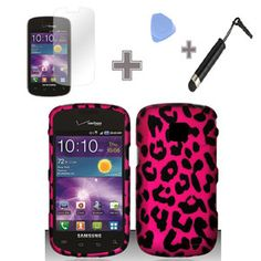 cases for anroid smartphone illustion | Samsung-illusion-Galaxy-Proclaim-Rubberized-Pink-Leopard-Hard-Case