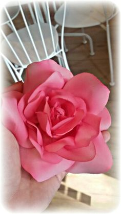 Wafer paper flowers! !! My Fuxia rose