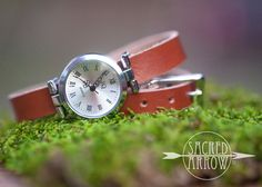 Silver Diffuser Wrap Watch - Chestnut