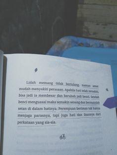 Muslim Quotes, Islamic Quotes, Reminder Quotes, Quotes Indonesia, Book Quotes, Novels, Reading, Random, Words