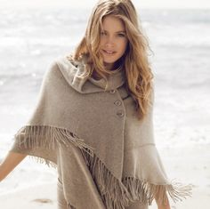 Fashion pictures or video of Doutzen Kroes: Repeat Cashmere A/W Campaign; Doutzen Kroes, Cashmere Wrap, Very Long Hair, Models, Chic Dress, Fashion Pictures, Playing Dress Up, Miu Miu, Bridal Gowns