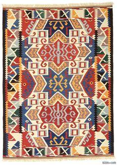 K0012303 New Turkish Kilim Rug | Kilim Rugs, Overdyed Vintage Rugs, Hand-made Turkish Rugs, Patchwork Carpets by Kilim.com
