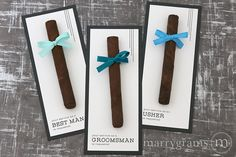 Modern Lines Service Requested Groomsman Cigar Cards / Ask or thank your best guys who stood by your side on the big day! Add to a groomsman proposal box or hand out at the rehearsal dinner or wedding day.