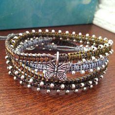 """In the Garden"" Leather Wrap Bracelet"