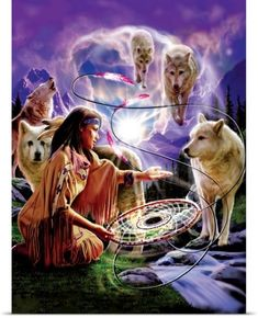 Wolves and Dream Catchers Native American Cherokee, Native American Wisdom, Native American Pictures, Native American Artwork, Native American Beauty, American Indian Art, Native American History, American Indians, Cherokee Indian Art