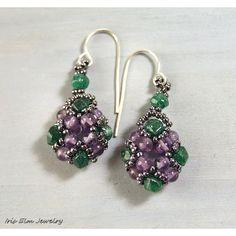 Amethyst Earrings February Birthstone Purple and by IrisElmJewelry