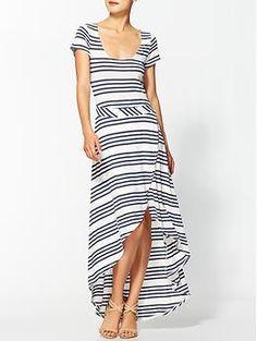 Splendid Stripe Maxi Dress   Piperlime