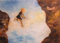 Jump! Oil on paper