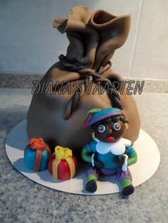 Piet en de zak van Sinterklaas met cadeautjes door Diana's Taarten. St Nicholas Day, Cupcake Cakes, Cupcakes, Fimo Clay, Cake Designs, Art For Kids, Party Themes, December, Baby Shower