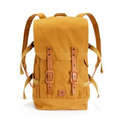 Fuji Backpack, Hiut Denim Co. - The Fuji backpack combines the shape of a traditional Japanese duffle bag, with a vintage 1966 Swiss Army backpack. Waxed Canvas, Canvas Leather, Swiss Army Backpack, Vegetable Tanned Leather, Fuji, Carry On, Traditional Japanese, Backpacks