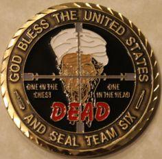 Osama Bin Laden Seal Team Six 6 September 9 11 Navy Military Challenge Coin RD   eBay
