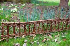 Willow garden border edging