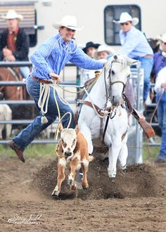 Calf Roping at 2012 NPRA Rodeo in La Pine, OR.  Photo by Stacy Judd Photography www.stacyjudd.com