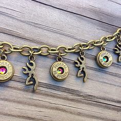Browning deer charm bracelet with bullet casings