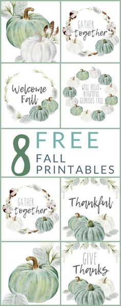 8 FREE – Neutral Farmhouse Style Fall Printables – The Crazy Craft Lady 8 GRATUIT – imprimables d'automne de style ferme neutre – The Crazy Craft Lady Thanksgiving Diy, Free Thanksgiving Printables, Halloween Tags, Halloween Crafts, Halloween Makeup, Diy Home Crafts, Fall Crafts, Crafts Cheap, Pumpkin Crafts