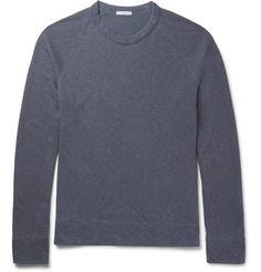 JAMES PERSE Mélange Loopback Supima Cotton-Jersey Sweatshirt. #jamesperse #cloth #sweats