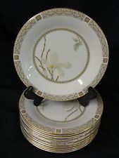 Royal Doulton Fine China Dinnerware White Nile Bread and Butter Plates Set 12