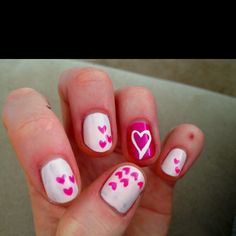 Happy Valentines day!! Cute nails
