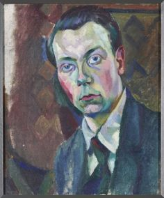 Sonia Delaunay, Porträt of Robert Delaunay (her husband) Sonia Delaunay, Robert Delaunay, Cubist Artists, Cubist Paintings, Oil Paintings, Tristan Tzara, Montpellier, Self Portrait Artists, Statues