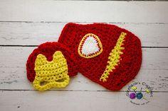 Crochet Newborn baby boy Iron man hat and Cape by Stephyscrochet, $40.00