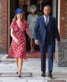 James Middleton accompanied Lady Laura Meade, one of Prince Louis' six godparents, to the service at the Chapel Royal at St James' Palace on July 2018 Kate Middleton Prince William, Prince William And Catherine, William Kate, Princess Kate, Princess Charlotte, Princess Stephanie, Princess Eugenie, Duchess Kate, Duchess Of Cambridge