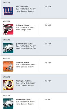 5be9ae1a90932 2012 Dallas Cowboys Football Schedule