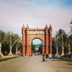 Arc de Triomf in Barcelona, Cataluña